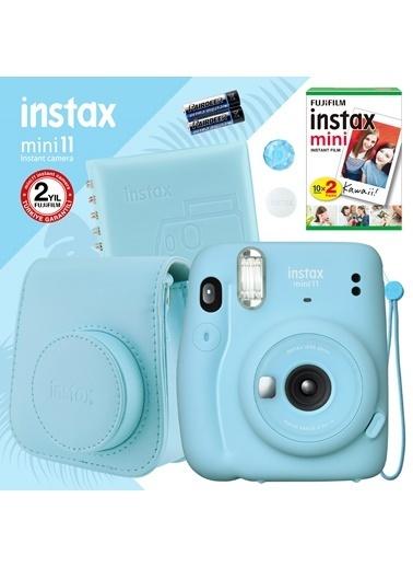 Fujifilm Instax mini 11 Mavi Fotoğraf Makinesi ve Kare Albümlü Hediye Seti 11 Mavi